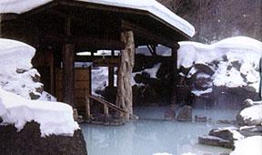 加仁湯 奥鬼怒温泉 冬の第三露天風呂